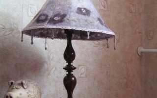 Каркас для абажура настольной лампы руками