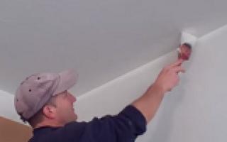 Как выровнять потолок после покраски водоэмульсионной