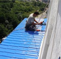 Как установить гидроизоляцию на готовую крышу балкона