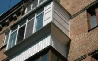 Как делается вынос балкона