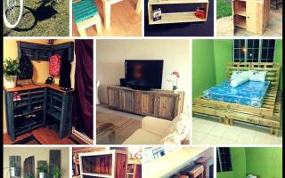 Как сделать кухонную мебель из поддонов