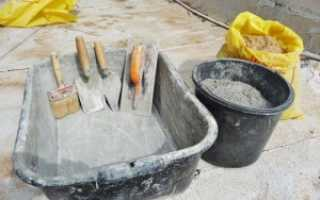 Расход цемента на 1 м3 песка