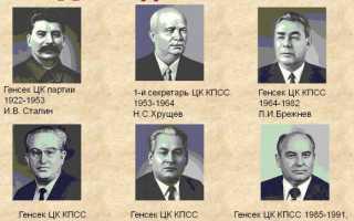 Кто после сталина руководил страной ссср