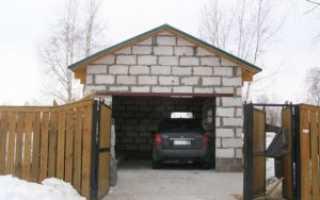 Как правильно построить гараж из пеноблоков
