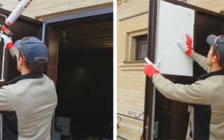 Как утепляют входную металлическую дверь и коробку