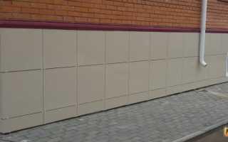 Устройство вентилируемых фасадов из керамической плитки