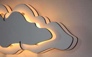 Сделать своими руками светильник облако из фанеры