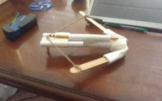 Как сделать арбалет из трубочек