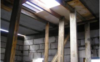 Самостоятельное формирование монолитного участка между плитами перекрытия