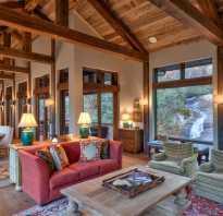 Интересный потолок в деревянном доме