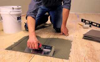 Укладка плитки в деревянном доме подготовка пола