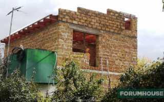 Перекрытия и армопояс для дома из ракушняка
