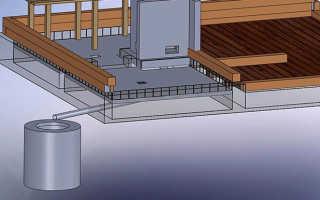 Как организовать слив воды из бани