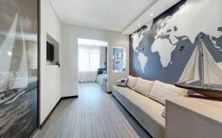 Дизайн гостиной с серым ламинатом