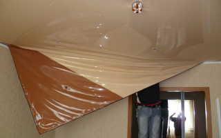 Как произвести демонтаж и снять натяжной потолок