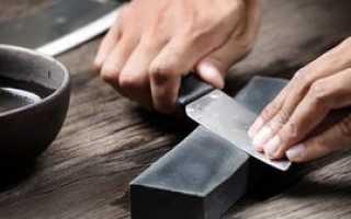 Как наточить нож в домашних условиях