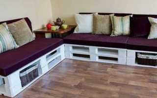 Изготавливаем самостоятельно оригинальную мебель из поддонов