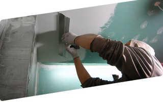 Шпаклёвка и окраска потолка