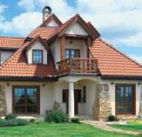 Отделка фасада частного дома бюджетный вариант