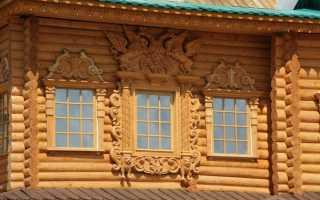 Нарисованные наличники на окна своими руками