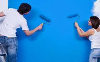 Как красить стены чтобы не было разводов