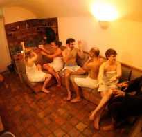 Веселая компания в бане
