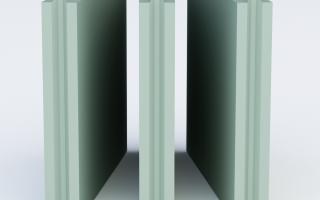 Декоративная малярная отделка перегородки из пазогребневых плит